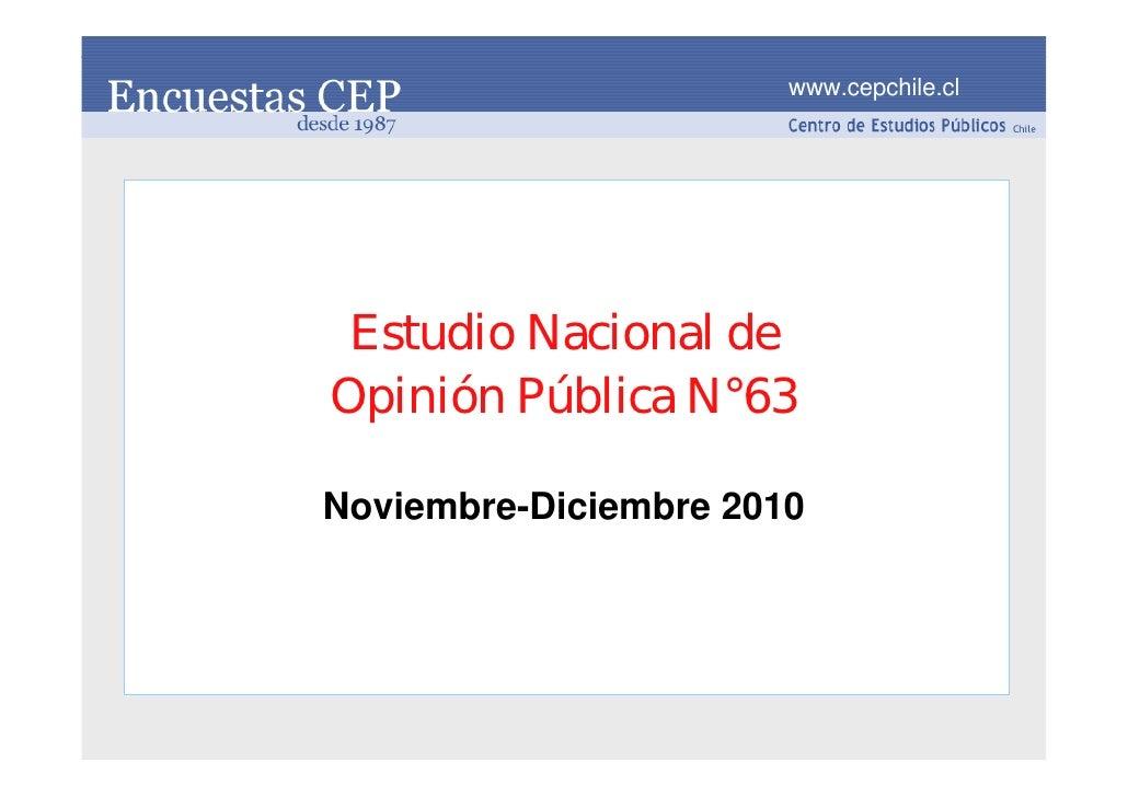 Encuesta CEP 30 dic 2010