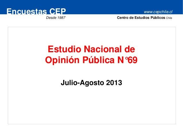 www.cepchile.clEncuestas CEP Desde 1987 Centro de Estudios Públicos Chile Estudio Nacional de Opinión Pública N°69 Julio-A...