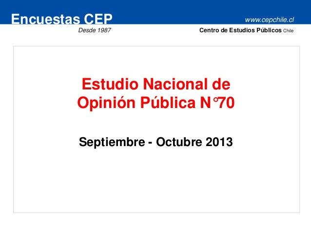 Encuesta CEP septiembre-octubre 2013