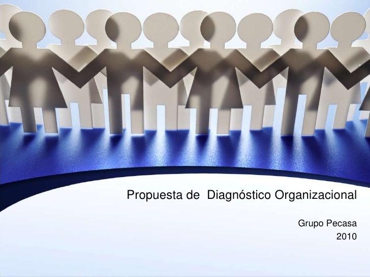 Propuesta de  DiagnósticoOrganizacional<br />Grupo Pecasa<br />2010<br />