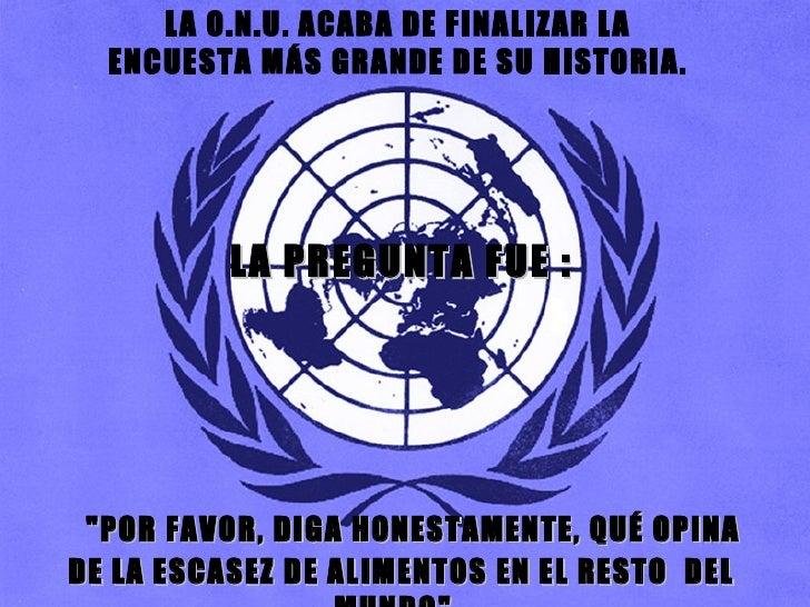 Encuesta de la ONU