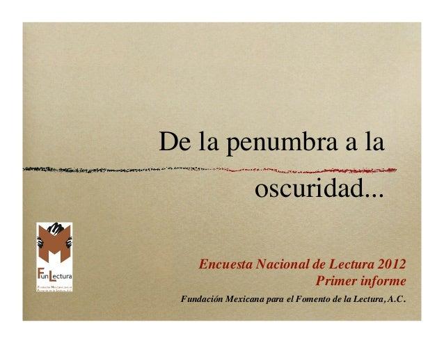Encuesta Nacional de Lectura México 2012