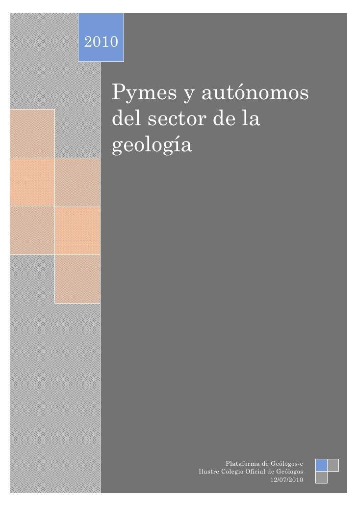 Pymes del sector de la Geología