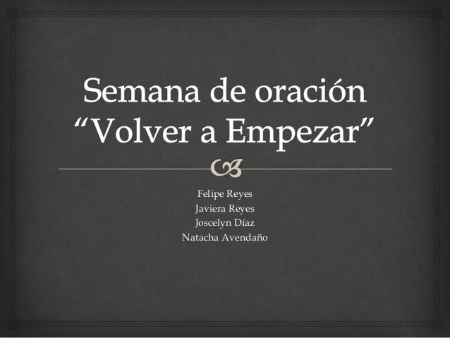 Felipe Reyes  Javiera Reyes  Joscelyn Díaz  Natacha Avendaño
