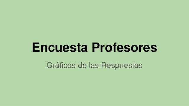 Encuesta Profesores Gráficos de las Respuestas