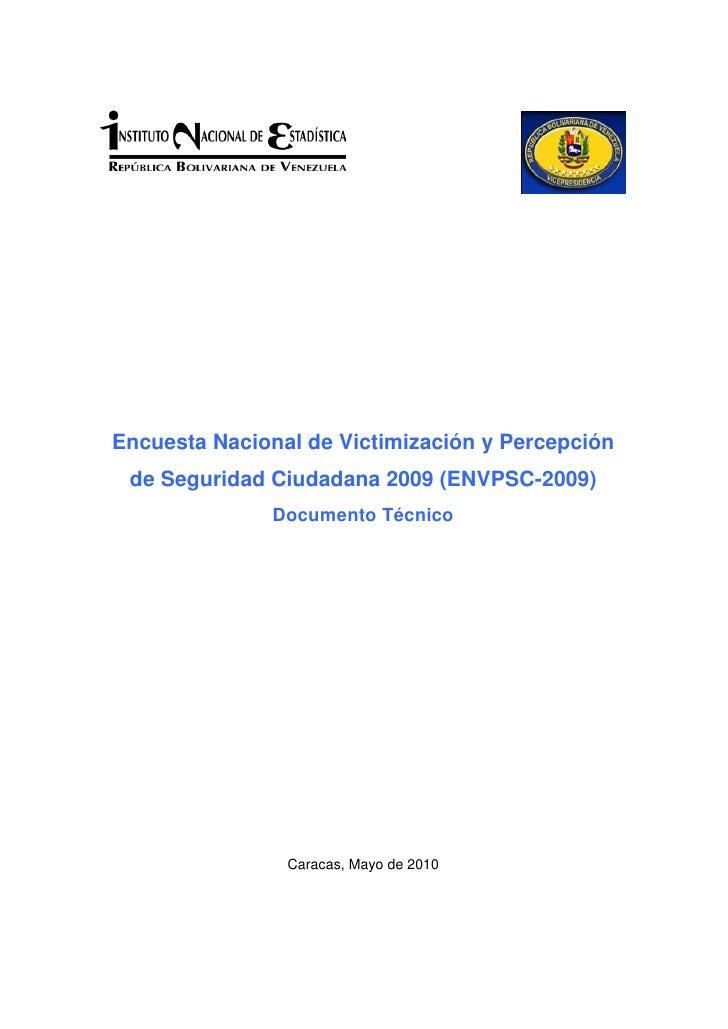 Encuesta de Victimización en Venezuela - 2009