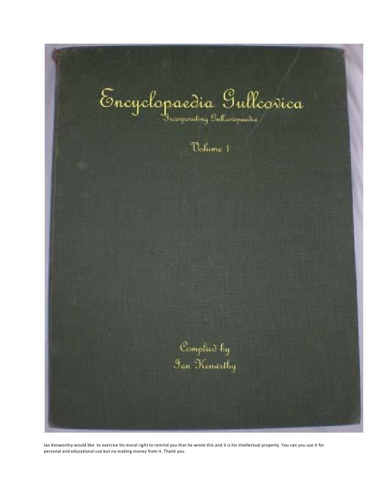 Encyclopaedia Gullcovica Volume 1
