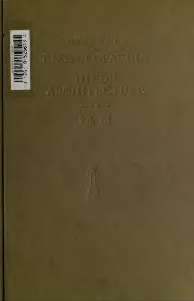 Encyclopaedia of Hindu Architecture