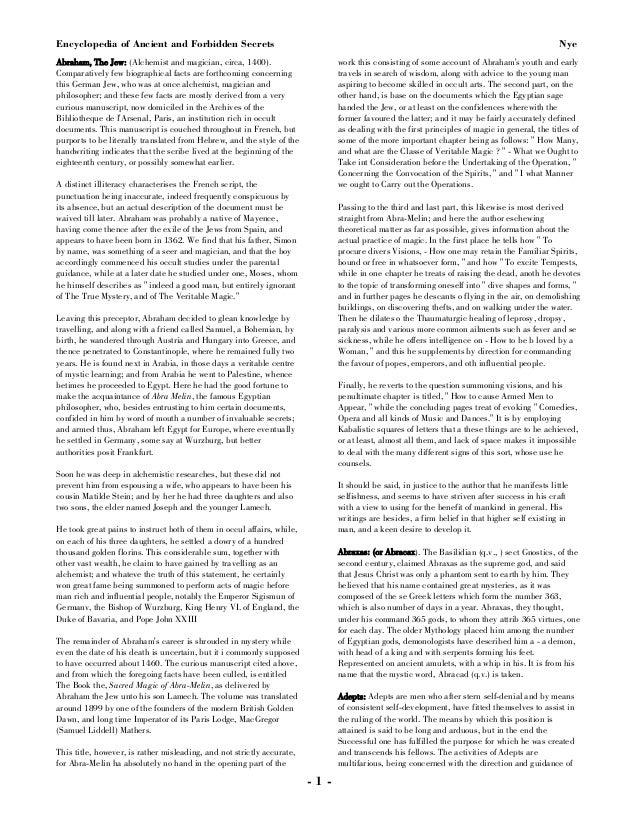 Encyclopedia of ancient & forbidden secrets