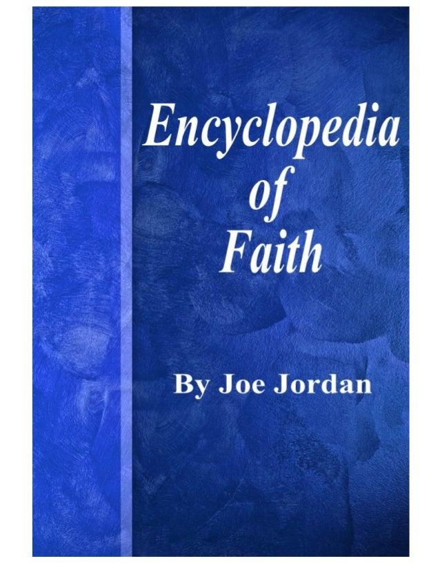 Encyclopedia of Faith- Joe Jordan