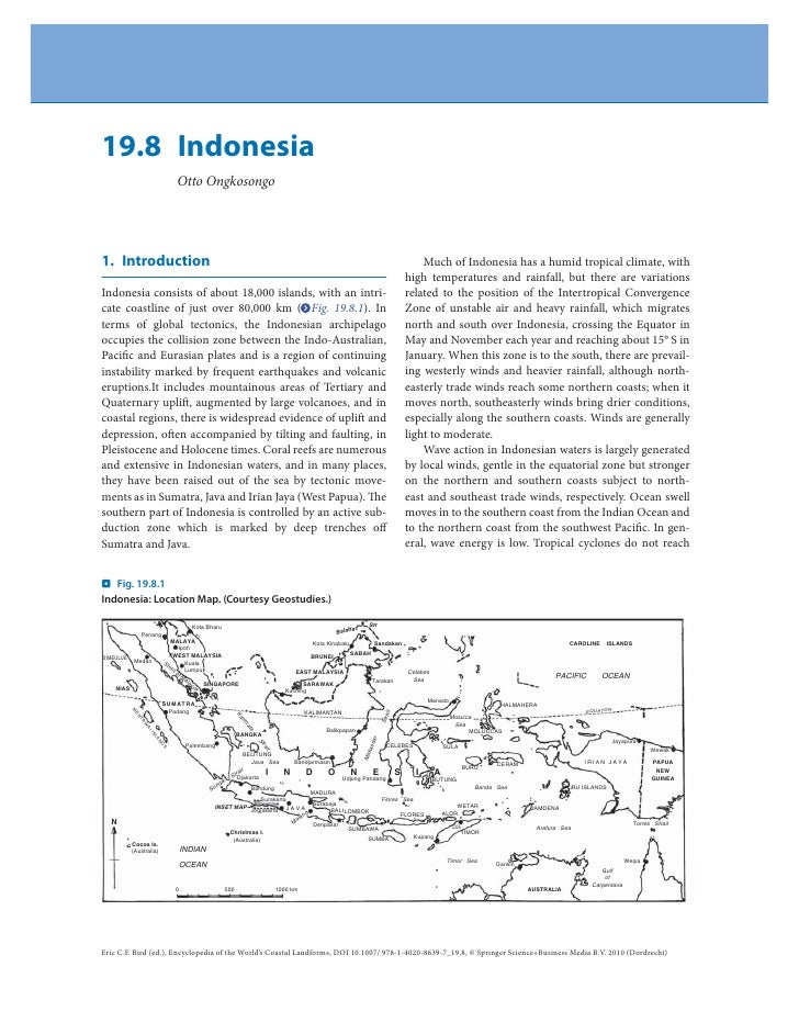 Encyclopedia of the indonesia's coastal landforms 2010
