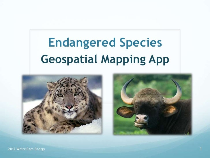 Endangered Species                  Geospatial Mapping App2012 White Ram Energy                      1