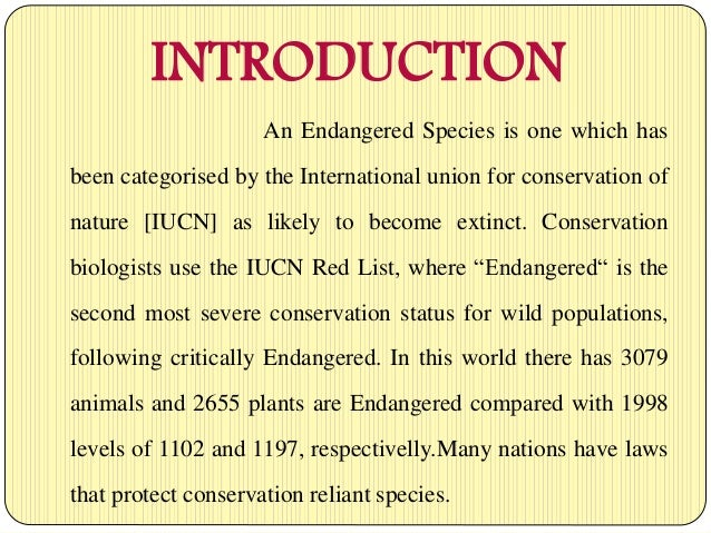 a discussion about endangered species and the causes of their extinction