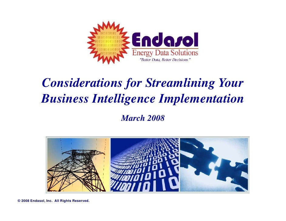 Considerations for Streamlining Your              Business Intelligence Implementation                                    ...