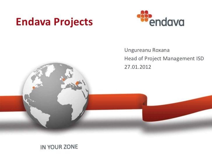 Endava Projects                  Ungureanu Roxana                  Head of Project Management ISD                  27.01.2...