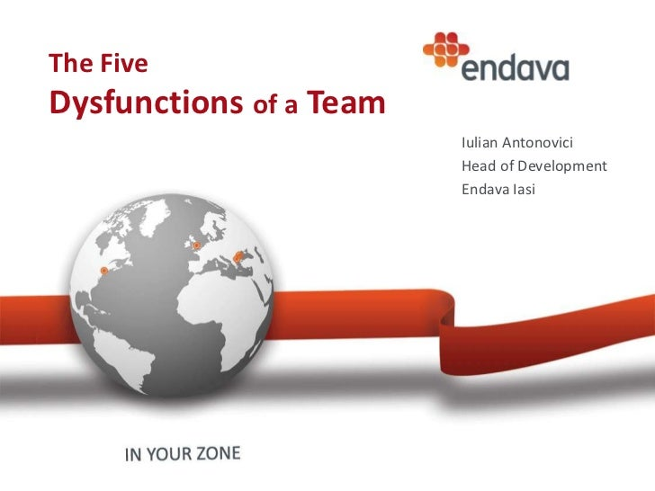 The FiveDysfunctions of a Team                         Iulian Antonovici                         Head of Development      ...
