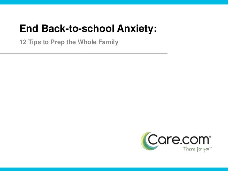 End Back-to-school Anxiety:<br />12 Tips to Prep the Whole Family<br />
