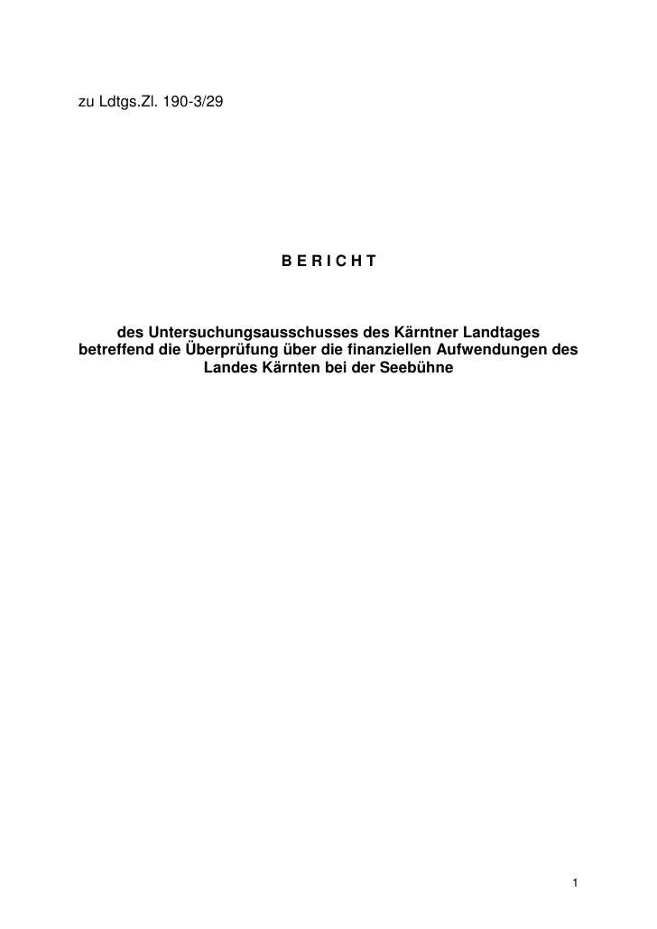 Seebühne U-Ausschuss Endbericht