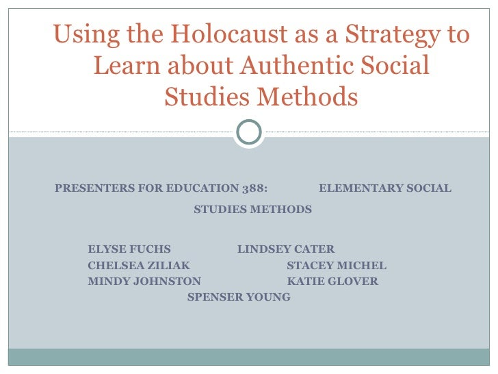 PRESENTERS FOR EDUCATION 388:  ELEMENTARY SOCIAL STUDIES METHODS ELYSE FUCHS LINDSEY CATER  CHELSEA ZILIAK  STACEY MICHEL ...