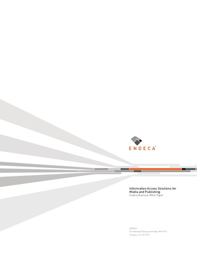 Endeca business white paper for media and publishing