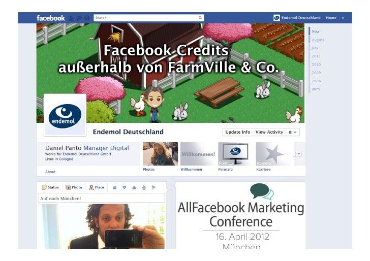 Facebook Credits außerhalb von Farmville und Co. (@AllFacebook Marketing Conference)