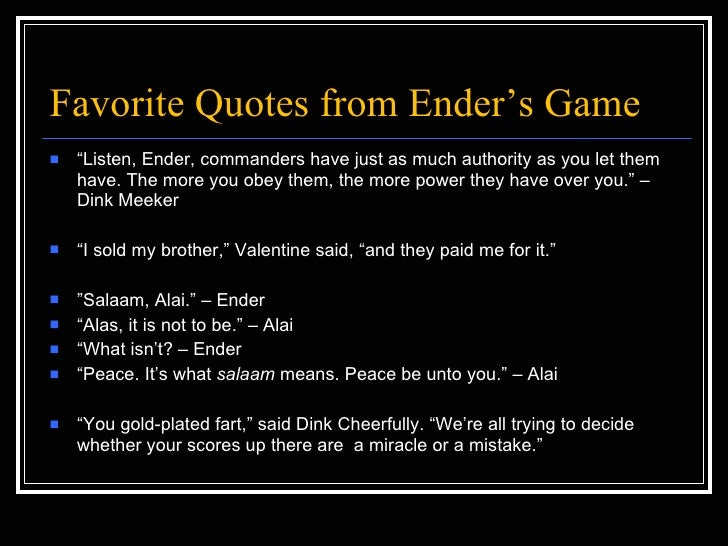 The gallery for --> Enders Game Quotes