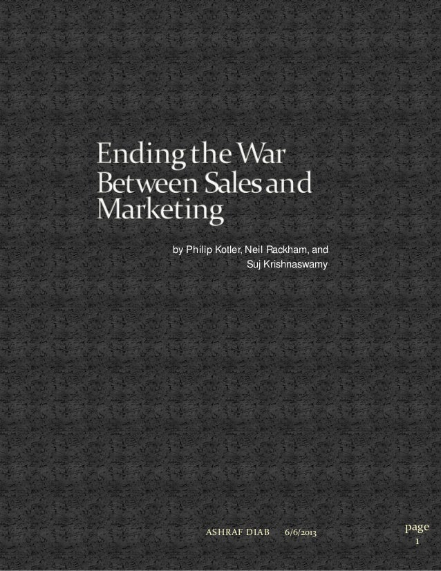 Ending war between_sales_marketing