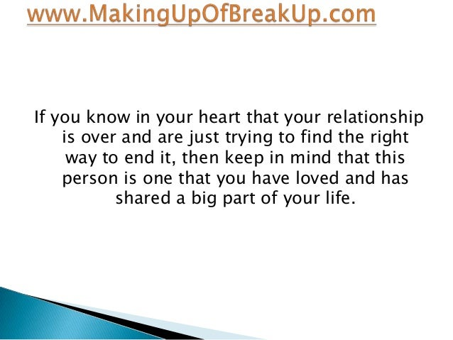 know my relationship ending