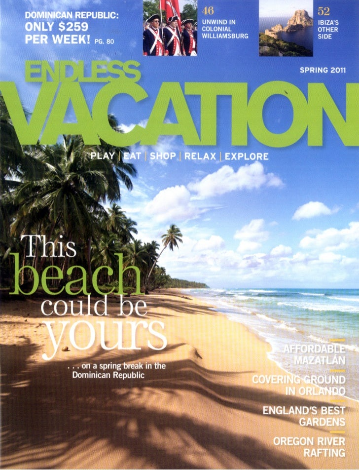 Endless Vacation Magazine Greater Williamsburg Feature, Spring 2011