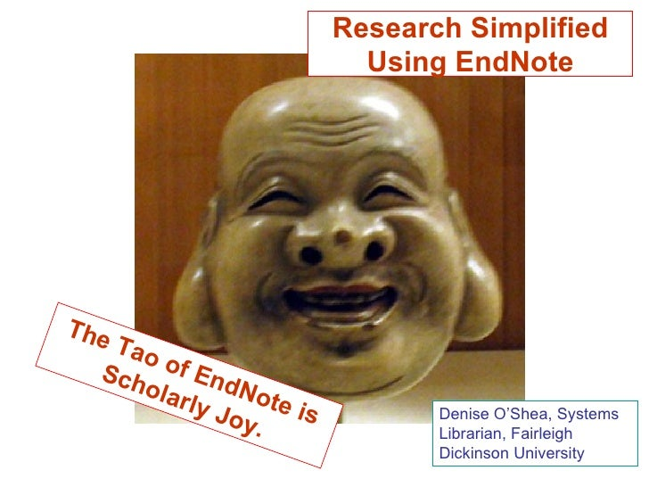 Research Simplified Using EndNote