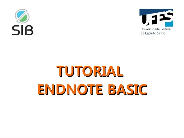 Tutorial End Note Web Basic