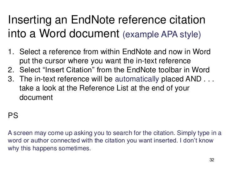 apa endnotes