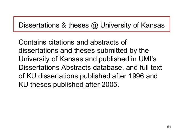 Dissertation Abstracts International Citation