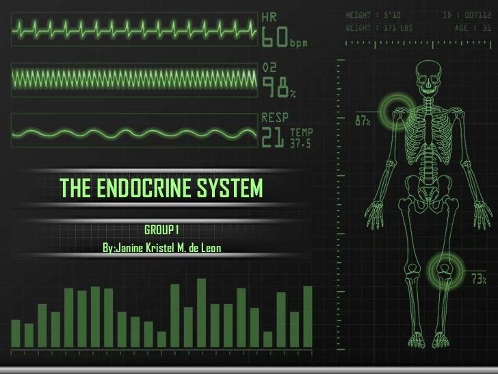 THE ENDOCRINE SYSTEM             GROUP 1    By:Janine Kristel M. de Leon