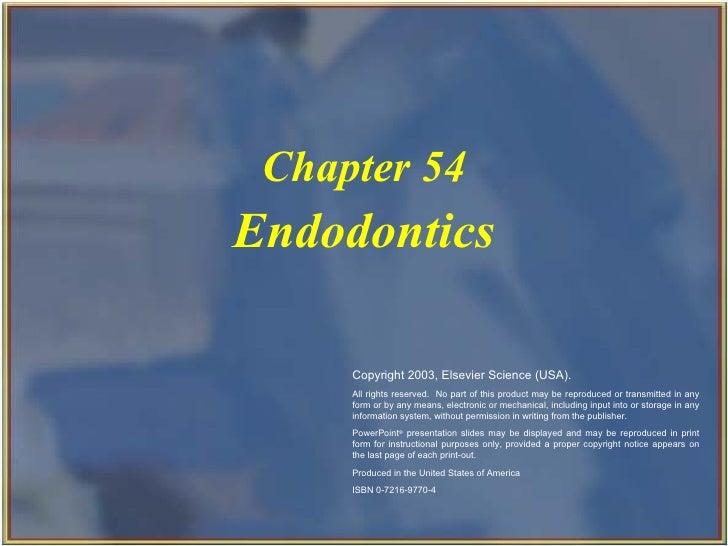 Endodontics Chapter 54