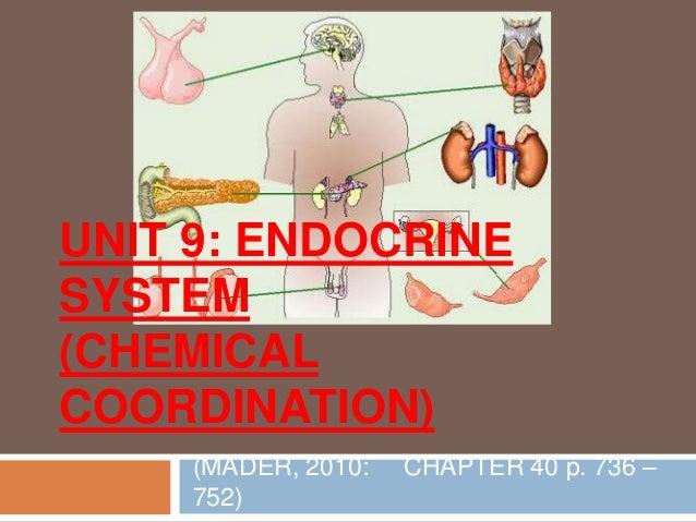 UNIT 9: ENDOCRINESYSTEM(CHEMICALCOORDINATION)(MADER, 2010: CHAPTER 40 p. 736 –752)