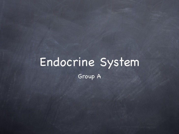 Endocrine group a