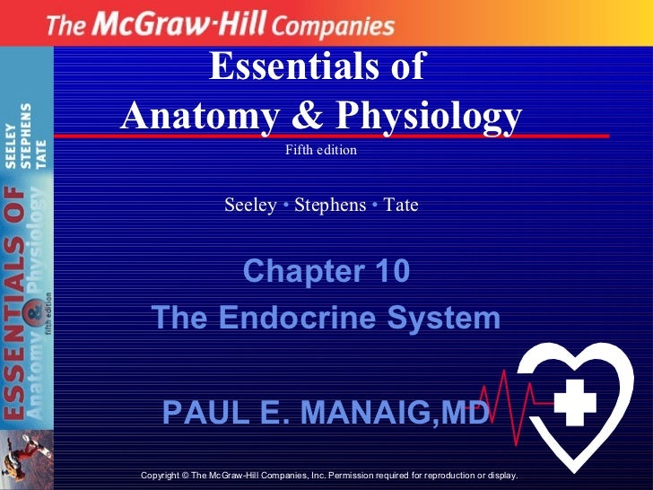 Essentials ofAnatomy & Physiology                                    Fifth edition                     Seeley • Stephens •...