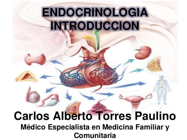 Carlos Alberto Torres Paulino Médico Especialista en Medicina Familiar y Comunitaria ENDOCRINOLOGIA INTRODUCCION