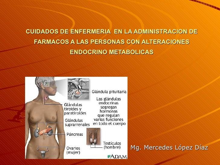 CUIDADOS DE ENFERMERIA EN LA ADMINISTRACION DE   FARMACOS A LAS PERSONAS CON ALTERACIONES            ENDOCRINO METABOLICAS...