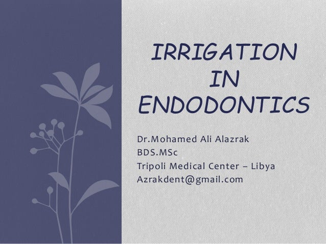Endodontic irrigation