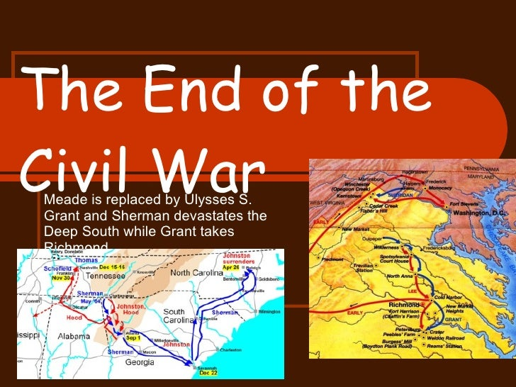 End of the Civil War Powerpoint