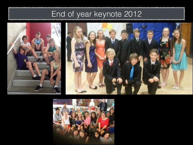 End of year keynote