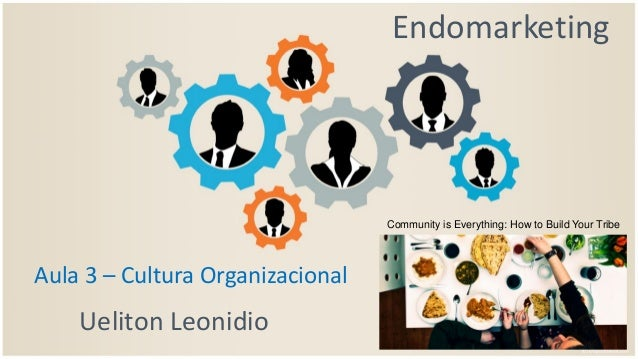 Endomarketing Ueliton Leonidio Aula 3 – Cultura Organizacional Community is Everything: How to Build Your Tribe