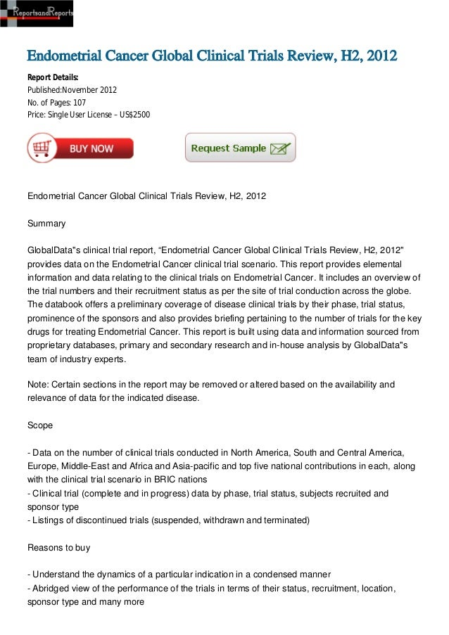 Endometrial Cancer Global Clinical Trials Review, H2, 2012
