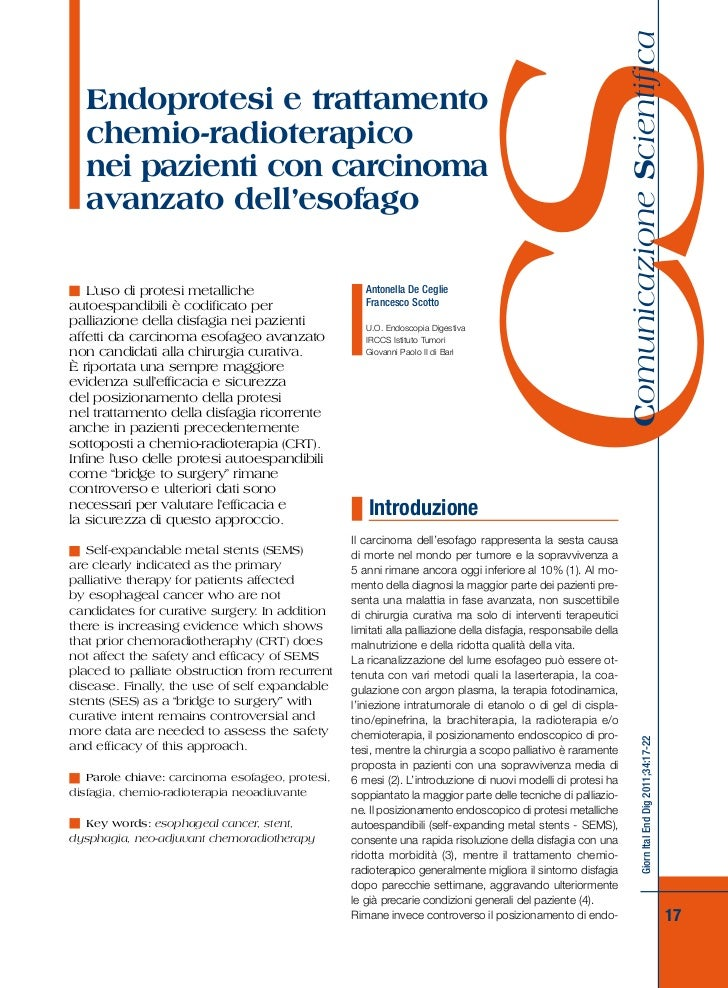 Endoprotesi e trattamento