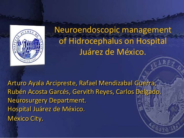 Arturo Ayala Arcipreste, Rafael Mendizabal Guerra, Rubén Acosta Garcés, Gervith Reyes, Carlos Delgado. Neurosurgery Depart...