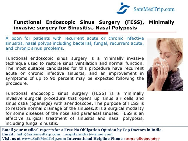 thesis on functional endoscopic sinus surgery fess Masters in medicine in ent head and neck surgery a thesis for fess : functional endoscopic sinus for opening the frontal sinus during surgery.