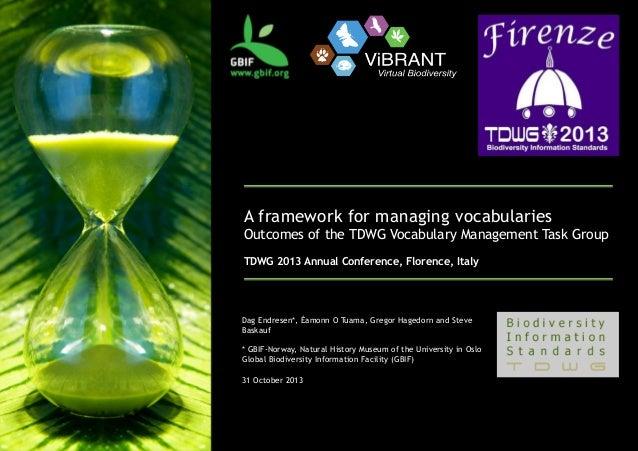 TDWG VoMaG Vocabulary management workflow, 2013-10-31