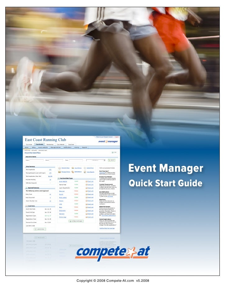 Quick Start Guide: Online Registration with Event Manager for Races